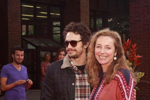 Special guest James Franco with festival director Diana Iljine